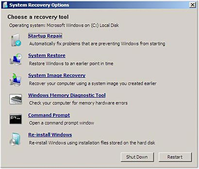Repair Windows XP, Vista, Windows 7 & 8